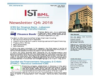 Our NewsLetter Quarter 4, 2018